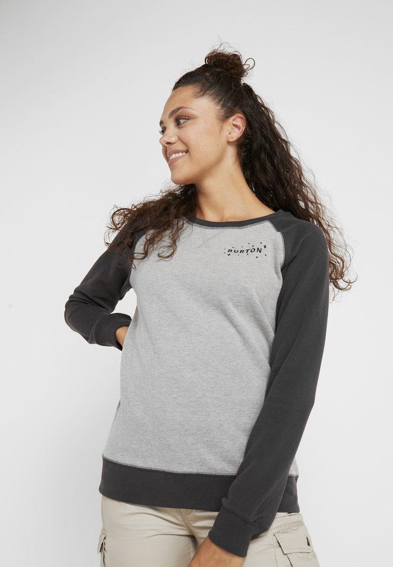Burton - KEELER CREW - Sweatshirt - grey heather/phantom