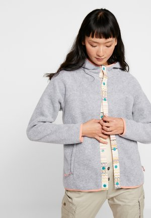 HEARTH  SNAP - Fleece jacket - gray heather