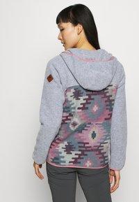 Burton - WOMEN'S HEARTH SNAP UP HOODIE - Fleecová bunda - gray heather/dark slate - 2