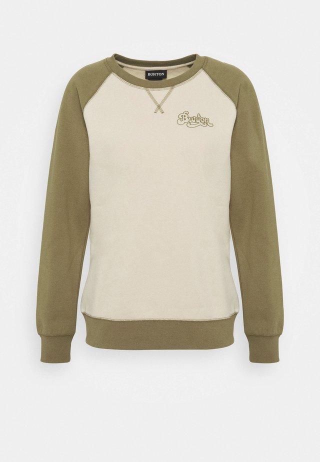 KEELER CREW - Sweatshirt - khaki