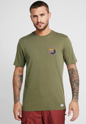 MILL POND  - T-shirt con stampa - martini olive