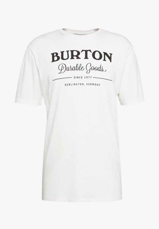 DURABLE GOODS - T-shirt print - stout white