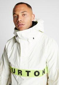 Burton - FROSTNER ANORAK - Snowboard jacket - white - 3