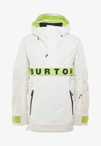 Burton - FROSTNER ANORAK - Snowboard jacket - white - 6