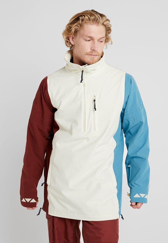 RETRO - Snowboardová bunda - almond milk/multi
