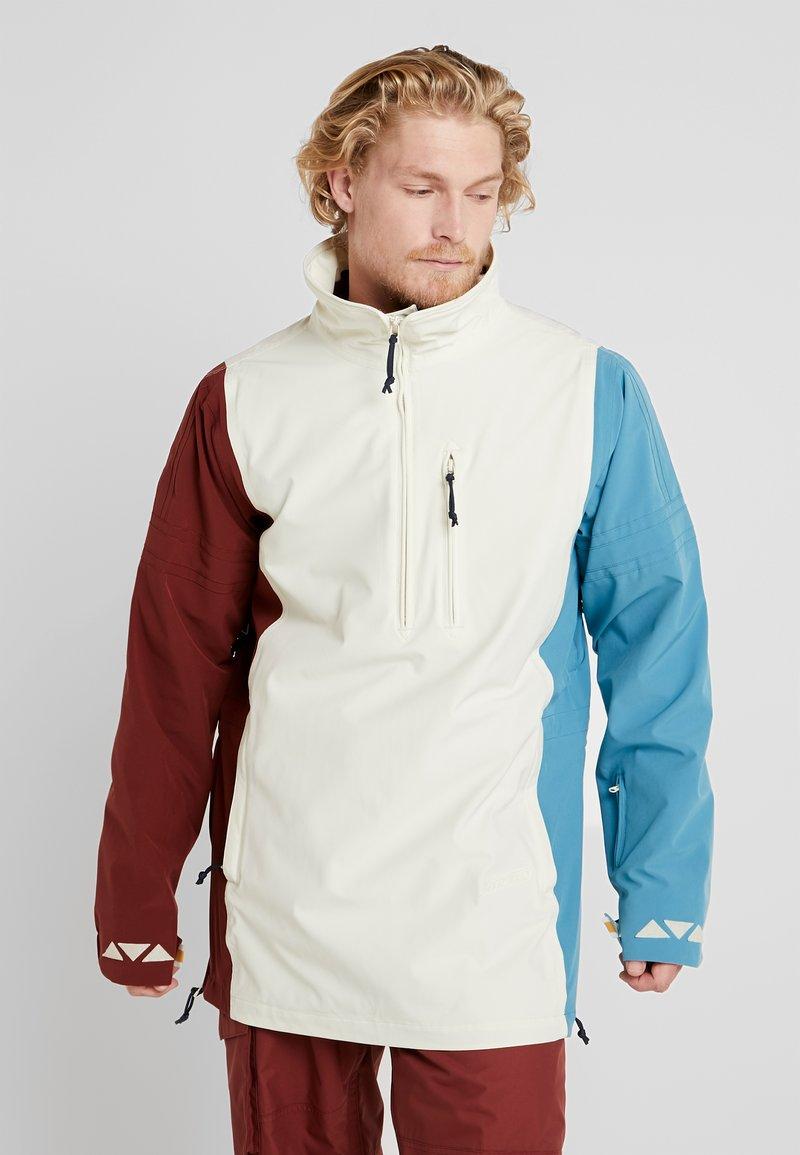 Burton - RETRO - Snowboardová bunda - almond milk/multi