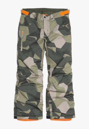 BOYS BARNSTORM - Zimní kalhoty - dark green/green