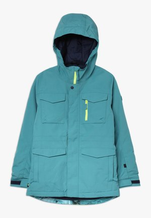 COVERT - Snowboardjas - blue/green