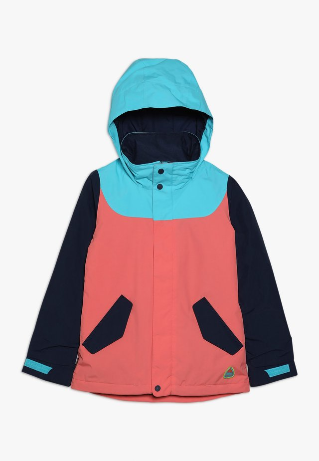 ELODIE - Snowboard jacket - coral/blue/dark blue