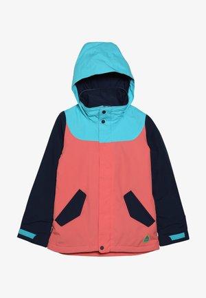 ELODIE - Snowboardová bunda - coral/blue/dark blue