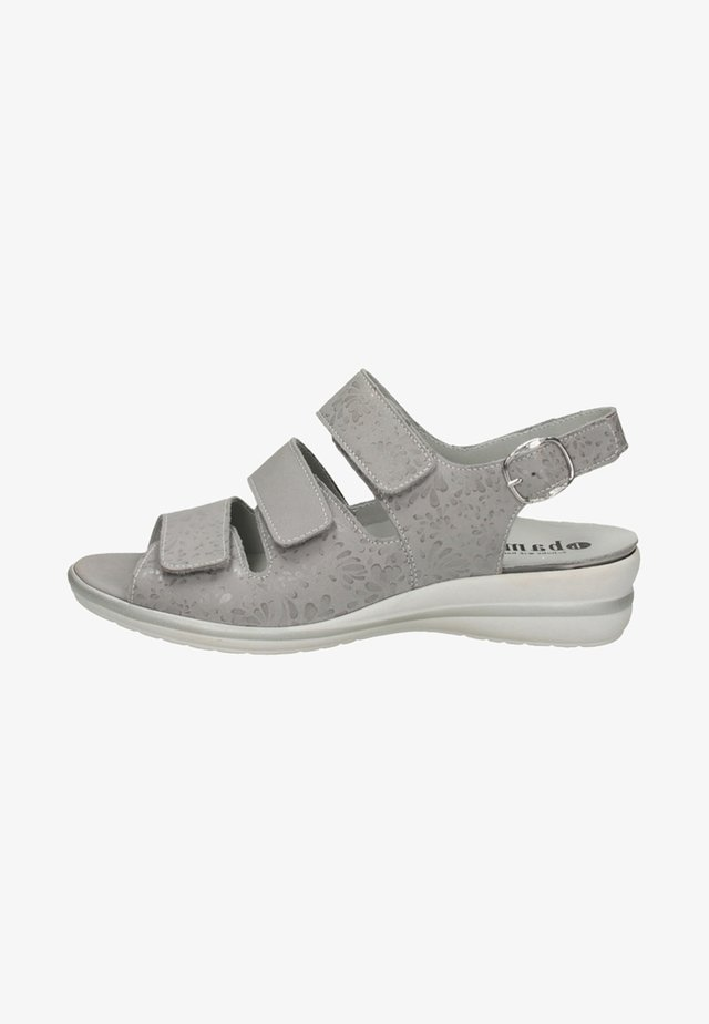 Keilsandalette - medium grey