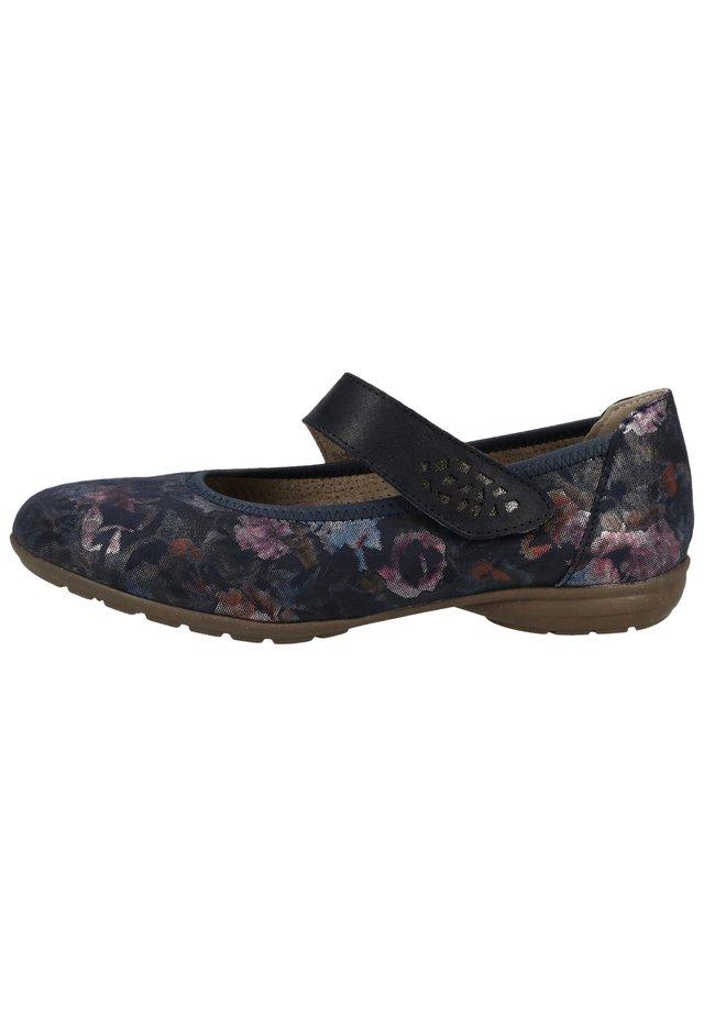 BAMA PUMPS - Ankle strap ballet pumps - dunkelblau