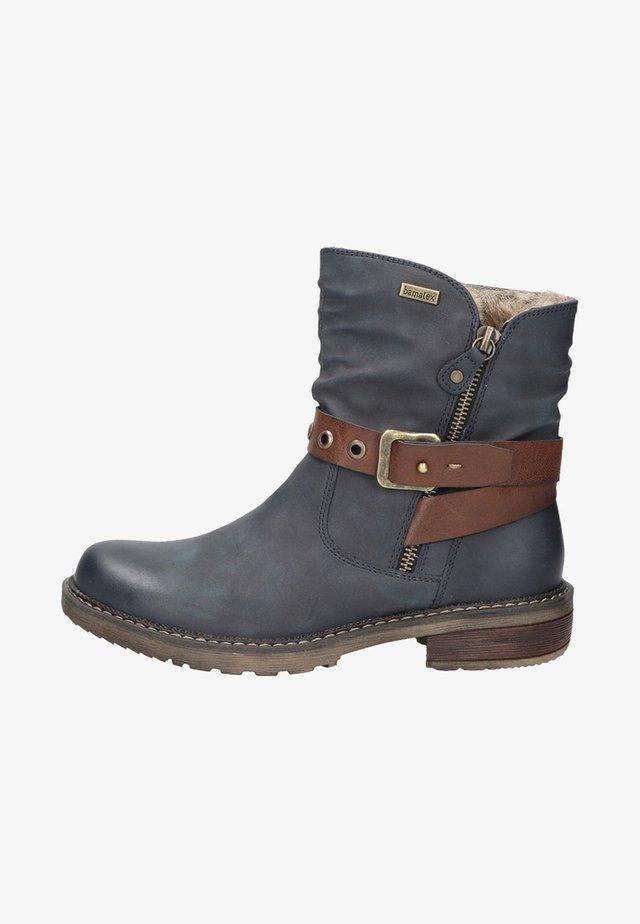 Cowboy/biker ankle boot - darkblue