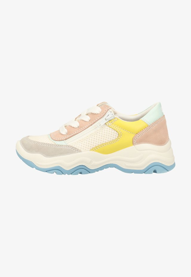 Trainers - white/yellow/light pink
