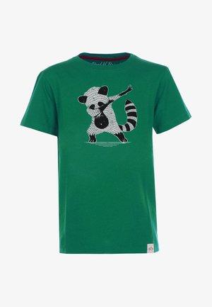 Print T-shirt - dark-green
