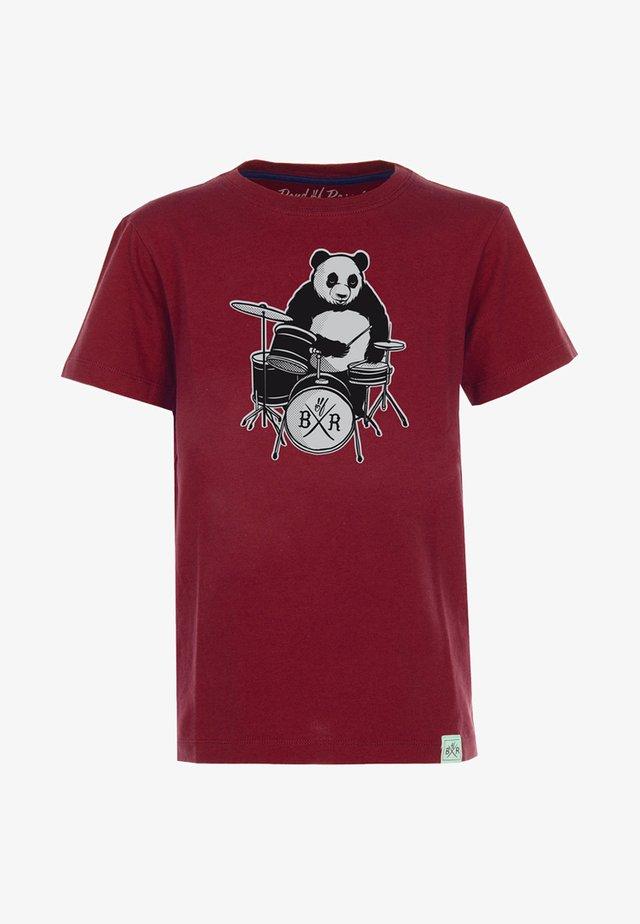 PANDA - Print T-shirt - brick red