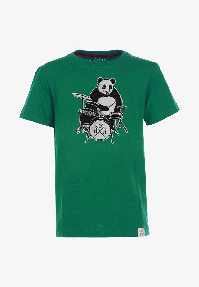 PANDA - Print T-shirt - dark green