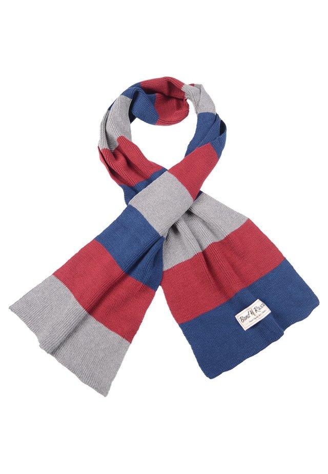 Scarf - blue/grey/red