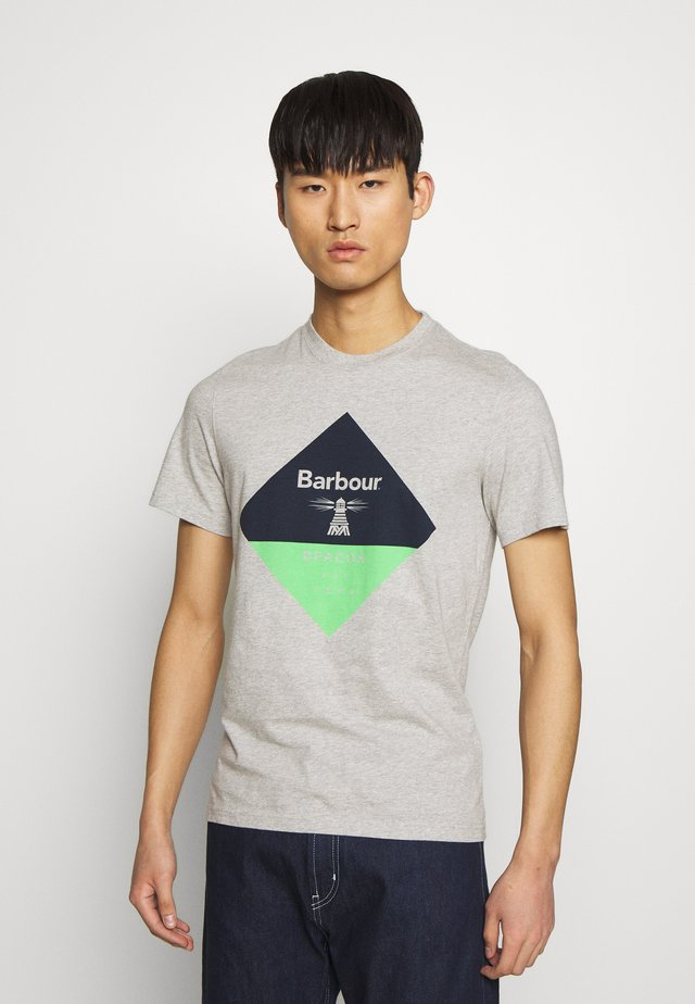 DIAMOND TEE - T-shirt z nadrukiem - grey