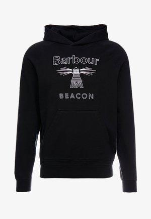 STITCH HOODIE - Bluza z kapturem - black