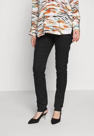STRETCH PANTS CUT - Trousers - black