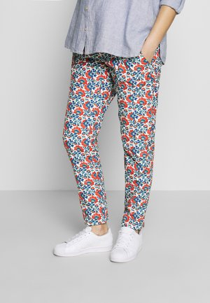 CARROT PANTS FLOWER PRINTS - Pantalones - blue red