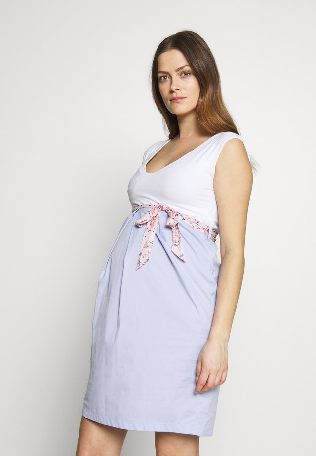 ROBE DROITE CHIC POPELINE - Day dress - white