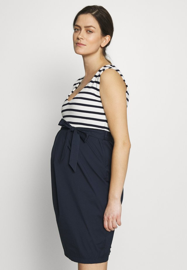 STRAIGHT DRESS STRIPES - Day dress - navy-white