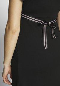 Balloon - NURSING WRAP DRESS - Žerzejové šaty - black - 6