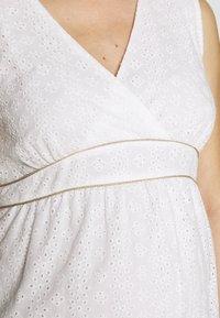Balloon - DRESS WITHOUT SLEEVES WRAP NECKLINE - Sukienka letnia - white - 5