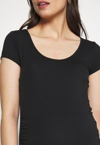 Balloon - SHORT SLEEVES WITH RUCHED SIDE - Basic T-shirt - black - 5