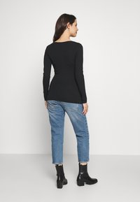 Balloon - RUSHED BASIC WITH LONG SLEEVES - Top s dlouhým rukávem - black - 2