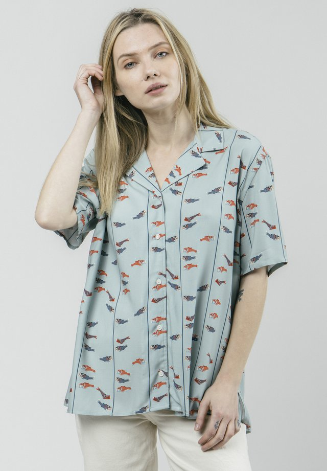 KOINOBORI KITE ALOHA - Button-down blouse - green