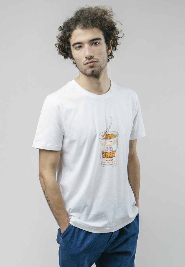 CURRY TO GO - Print T-shirt - white
