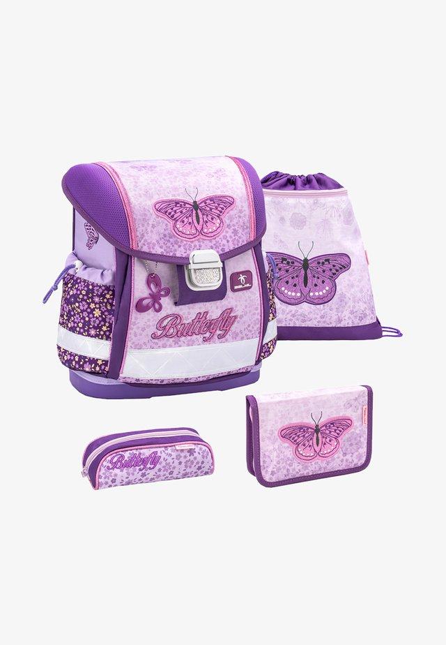 SET - School bag - light pink