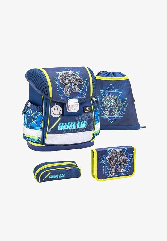 SET - School bag - neon-gelb