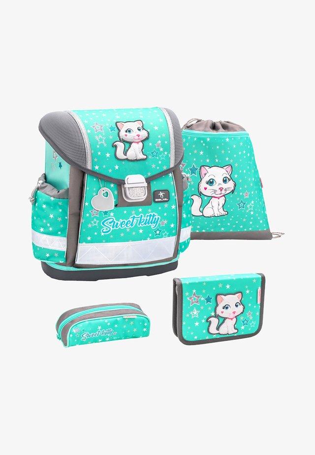 SET - School bag - turquoise