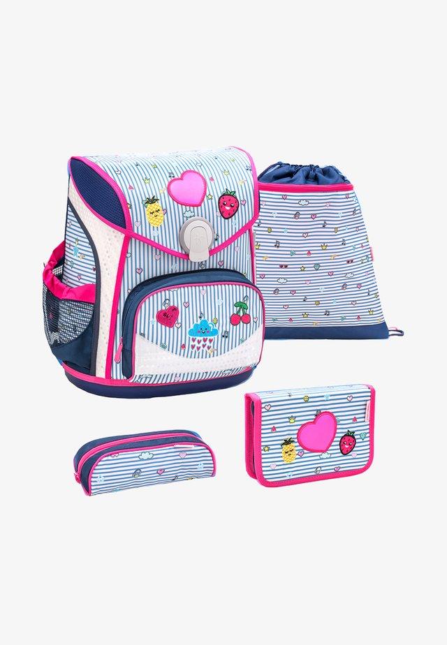 SET 4 TEILIG - School set - neon pink
