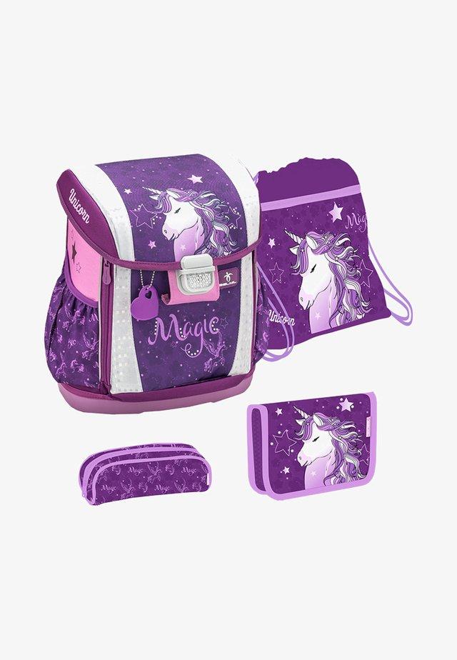 SET - School bag - mottled purple