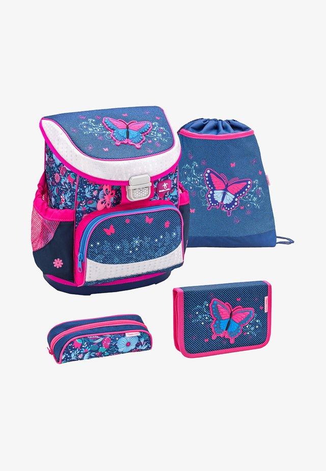 SET 4 TEILIG - School set - mottled light pink