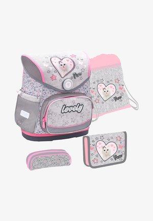 SET - School bag - mottled grey