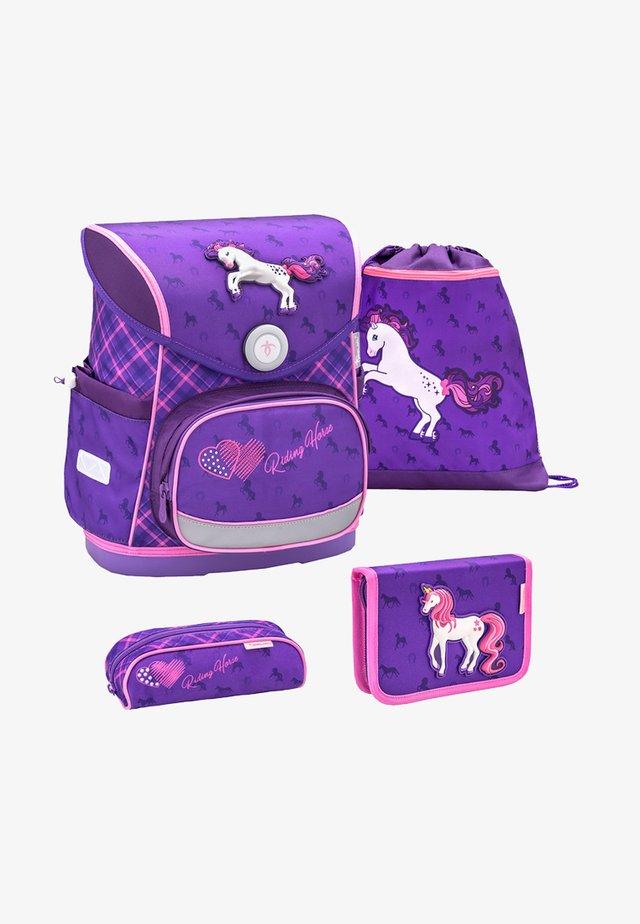 SET - School bag - purple