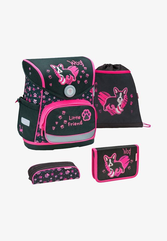 SET - School bag - neon pink
