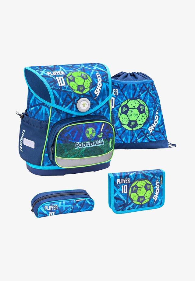 SET - School bag - mottled turquoise