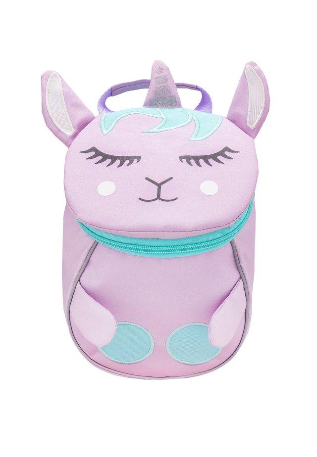 MINI ANIMAL - School bag - light pink, light-blue denim