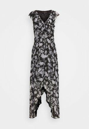 RUFFLE MAXI - Vestito elegante - black