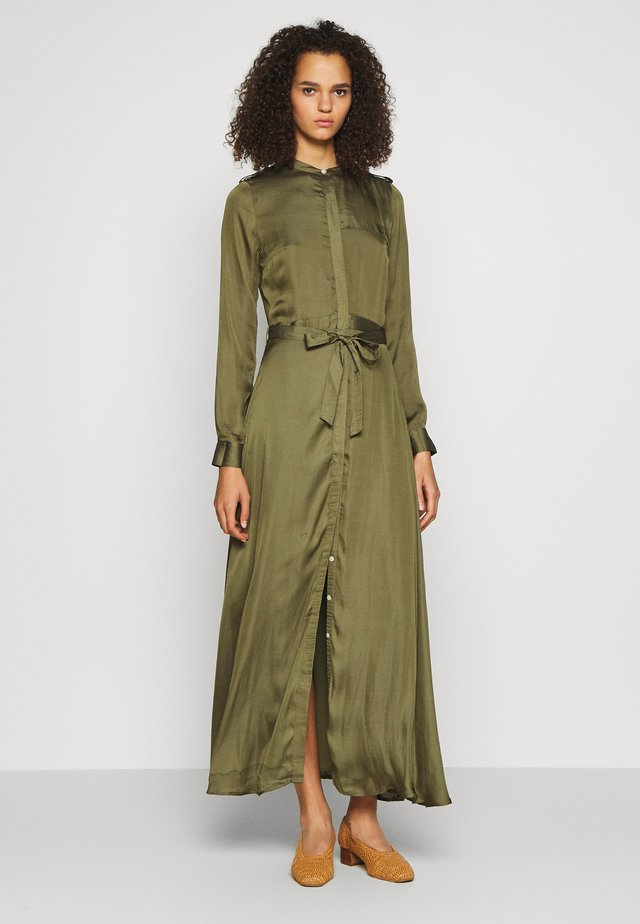 TRENCH MAXI DRESS - Maxi-jurk - jungle olive