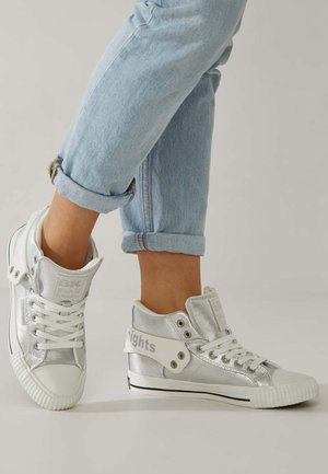 High-top trainers - sliver colored