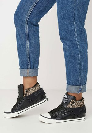 ROCO - Scarpe skate - black/brown leopard