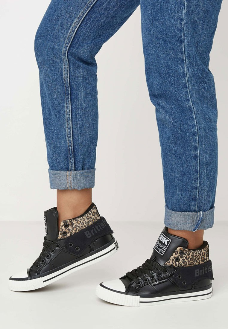 British Knights - ROCO - Skate shoes - black/brown leopard